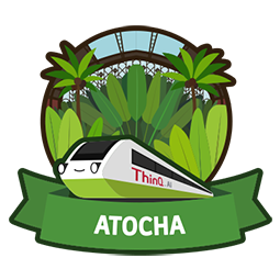 ATOCHA (ThinQ.AI version 1.0 logo)