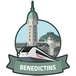 BENEDICTINS (ThinQ.AI version 2.0 logo)